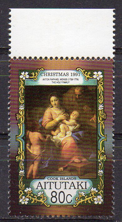Aitutaki, Mi-Nr. 678 **, Weihnachten 1991