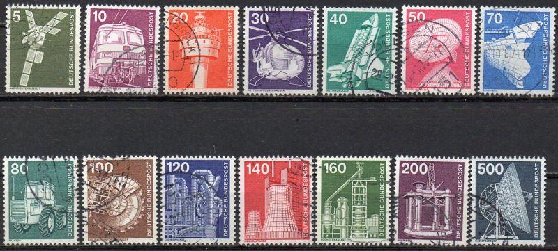 BRD, Mi-Nr. 846 - 859 gest., kompl., DS Deutsche Industrie und Technik