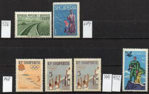 Albanien, Lot mit postfrischen Marken