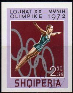 Albanien, Block-Nr. 45 gest., Olympische Spiele München 1972