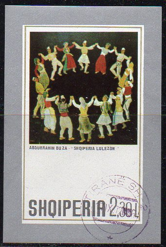 Albanien, Block-Nr. 46 gest., Gemälde