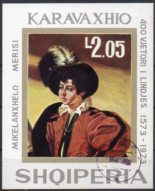 Albanien, Block-Nr. 48 gest., 400. Geburtstag von Caravaggio