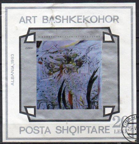Albanien, Block-Nr. 98 gest., Gemälde