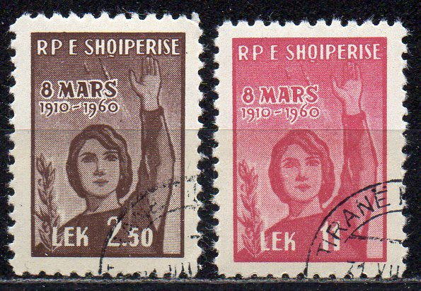 Albanien, Mi-Nr. 591 - 592 gest., kompl., Internationaler Frauentag