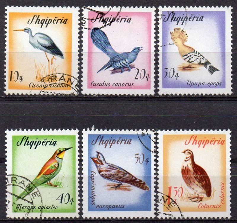 Albanien, Mi-Nr. 973 - 978 gest., kompl.,  Zugvögel 0