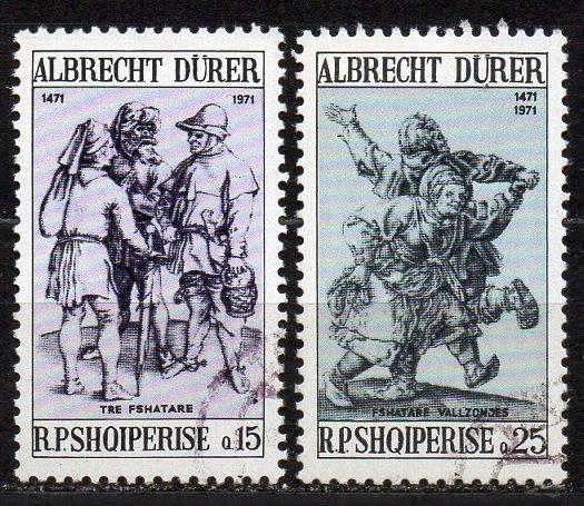 Albanien, Mi-Nr. 1481 + 1482 gest., 500. Geburtstag von Albrecht Dürer