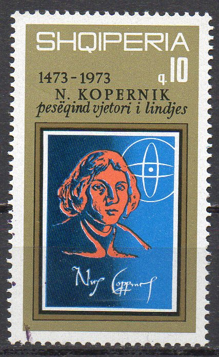 Albanien, Mi-Nr. 1605 gest., 500. Geburtstag vom Nikolaus Kopernikus