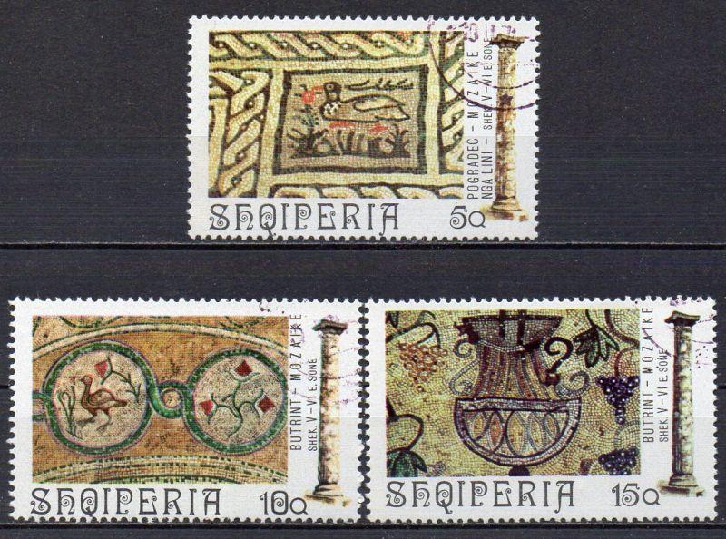 Albanien, Mi-Nr. 1682, 1683 + 1684 gest., antike Mosaiken 0