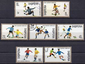 Albanien, Mi-Nr. 1688 u. a. gest., Fußball - Weltmeisterschaft 1974