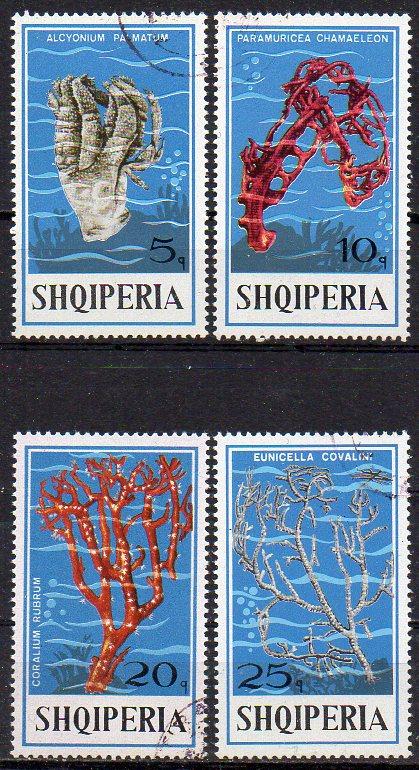 Albanien, Mi-Nr. 1802 u. a. gest., Korallen
