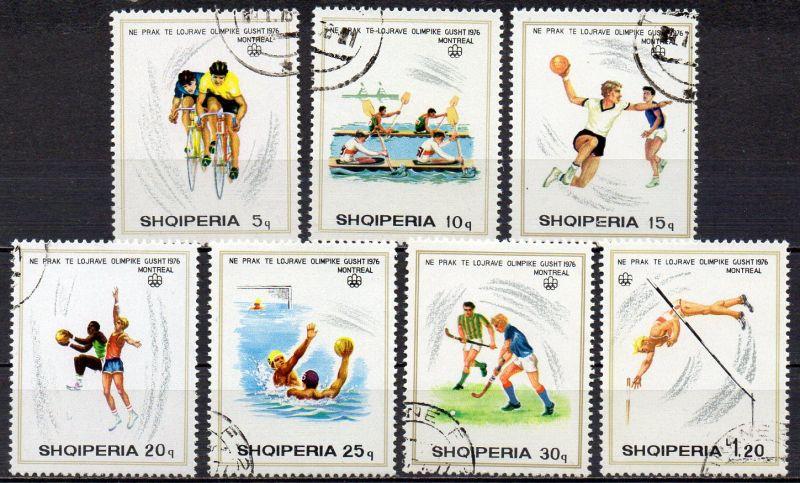 Albanien, Mi-Nr. 1807 u. a. gest., Olympischhe Sommerspiele Montreal 1976 0