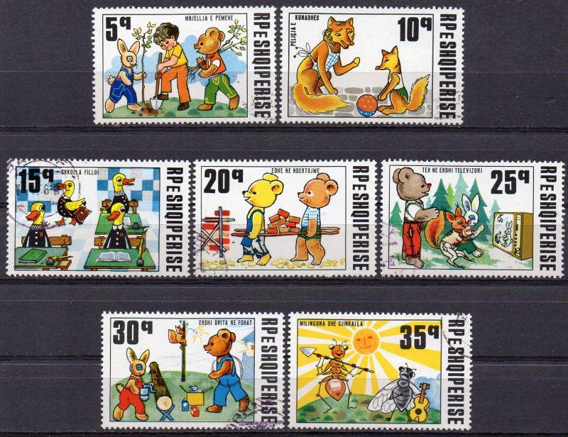Albanien, Mi-Nr. 1826 u. a. gest., 25 Jahre Puppentheater: Fabeln 0
