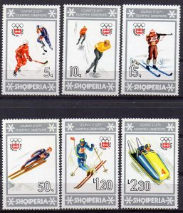 Albanien, Mi-Nr. 1836 - 1841 **, kompl., Olympische Winterspiele Innsbruck 1976