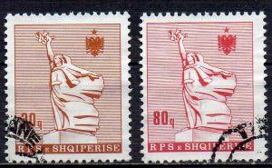 Albanien, Mi-Nr. 2312 + 2316 gest., Statue der Mutter Albania