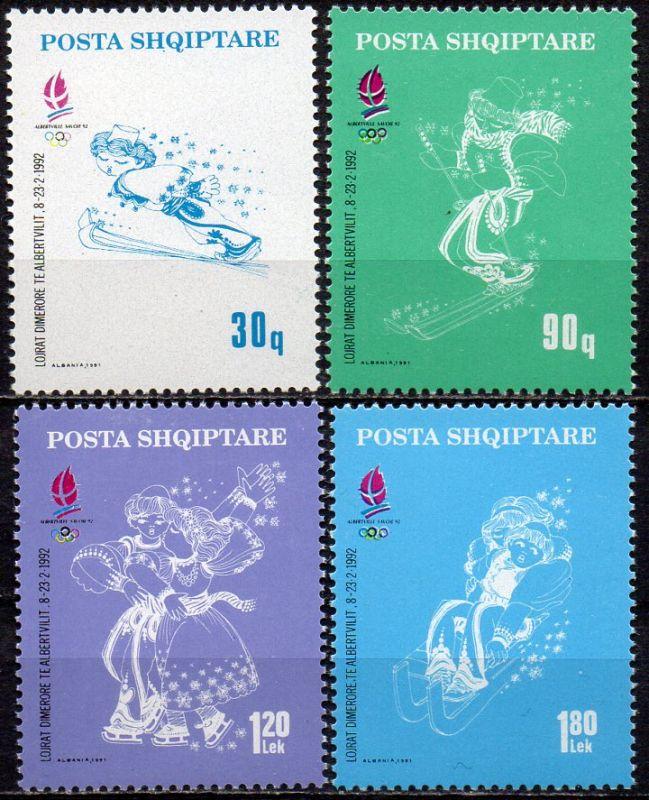 Albanien, Mi-Nr. 2489 - 2492 **, Olympische Winterspiele Albertville 1992