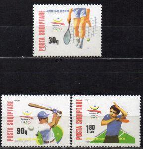 Albanien, Mi-Nr. 2502 - 2504 **, kompl., Olympische Sommerspiele Barcelona 1992