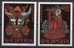 Albanien, Mi-Nr. 2718 - 2719 **, kompl., Karnevalsmasken