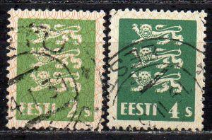 Estland, Mi-Nr. 75 + 76 gest.,