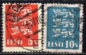 Estland, Mi-Nr. 77 + 79 b gest.,