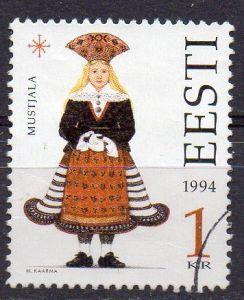 Estland, Mi-Nr. 236 gest., Tracht der Region Mustel