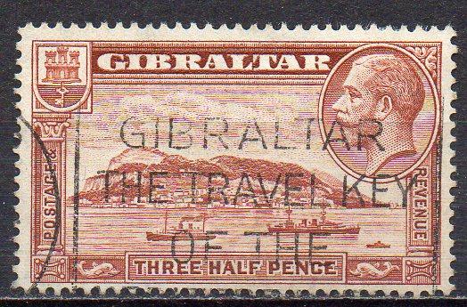 Gibraltar, Mi-Nr. 97 A gest., Felsen von Gibraltar