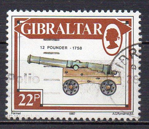 Gibraltar, Mi-Nr. 533 gest., Kanone