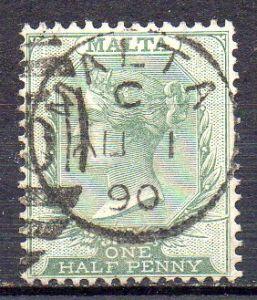 Malta, Mi-Nr. 4 gest., Königin Viktoria
