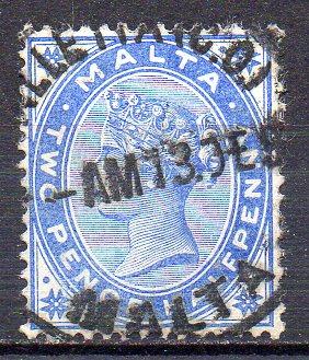 Malta, Mi-Nr. 7 gest., Königin Viktoria
