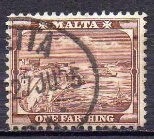 Malta, Mi-Nr. 15 gest., Hafen von Valletta