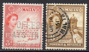 Malta, Mi-Nr. 243 + 246 gest.,