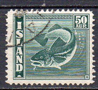 Island, Mi-Nr. 228 gest., Fisch - Kabeljau