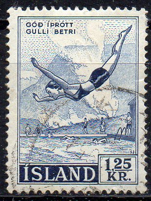 Island, Mi-Nr. 299 gest., Turmspringen