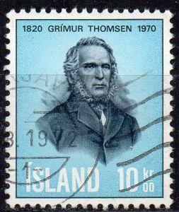 Island, Mi-Nr. 445 gest., Grimur Thomsen (Dichter)