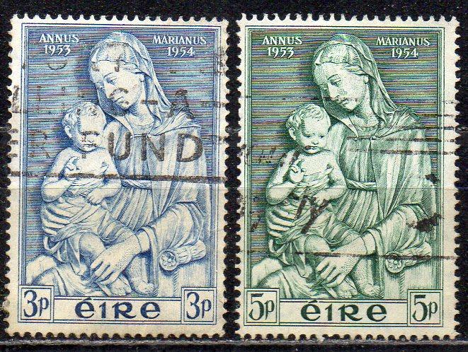 Irland, Mi-Nr. 120 - 121 gest., kompl., Marianisches Jahr