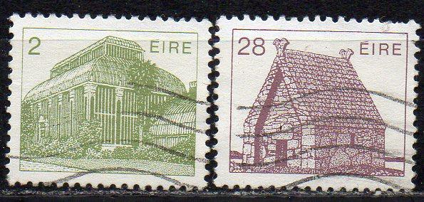 Irland, Mi-Nr. 485 A + 572 A gest., Irische Architektur