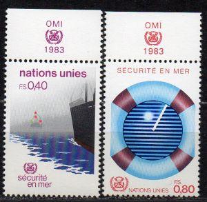 UNO - Genf, Mi-Nr. 112 - 113 **, Sicherheit auf See