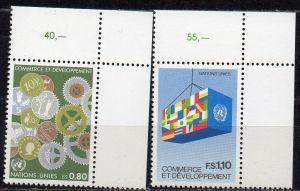 UNO - Genf, Mi-Nr. 115 - 116 **, kompl., Handel + Entwicklung