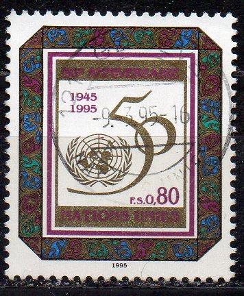UNO - Genf, Mi-Nr. 261 gest., 50 Jahre UNO