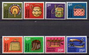 Tokelau, Mi-Nr. 18 - 25 **, kompl., Folkloristisches Handwerk