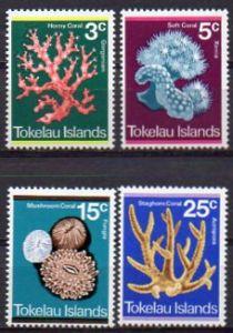 Tokelau, Mi-Nr. 30 - 33 **, kompl., Korallen