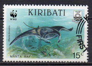 Kiribati, Mi-Nr. 566 gest., Manta - Rochen, WWF-Symbol