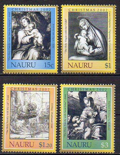 Nauru, Mi-Nr. 549 - 552 **, kompl., Weihnachten 2002