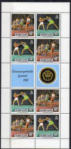 Salomon-Inseln, Mi-Nr. 471 - 472 **, 4 x im Kleinbogen mit Zierfeldern, Commonwealth-Spiele 1982