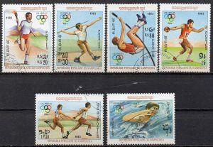Kambodscha, Mi-Nr. 454 u. a. gest., Olympische Sommerspiele 1984 Los Angeles