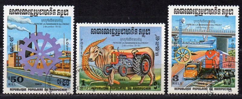 Kambodscha, Mi-Nr. 530 - 532 gest., kompl.,