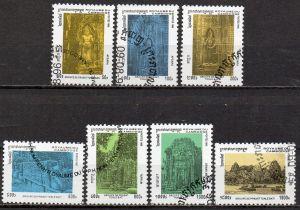 Kambodscha, Mi-Nr. 1612 - 1618 gest., kompl., Ruinen der Tempelanlage Tonle Bati