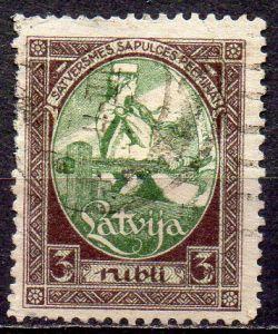 Lettland, Mi-Nr. 44 gest., Eröffnung der ersten Volksvertretung