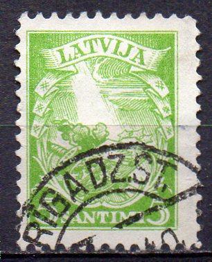 Lettland, Mi-Nr. 233 gest., Neue verfassung Lettlands