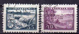 Lettland, Mi-Nr. 269 + 270 gest., 20. Jahrestag der Staatsgründung