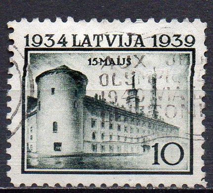 Lettland, Mi-Nr. 273 gest., Schloß in Riga